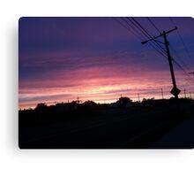 Cool Summer Sunset Canvas Print