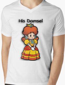Mushroom Kingdom Couple: Daisy Shirt Mens V-Neck T-Shirt