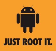 Just Root It. (android - black) T-Shirt