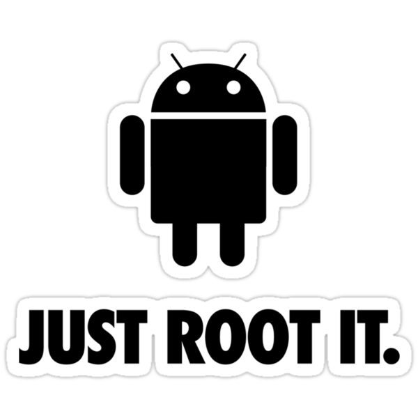 Just Root It. (android - black) by axletee