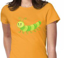 Cute cartoon caterpillar centipede Womens Fitted T-Shirt