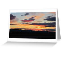 Kalispell Sunset Greeting Card