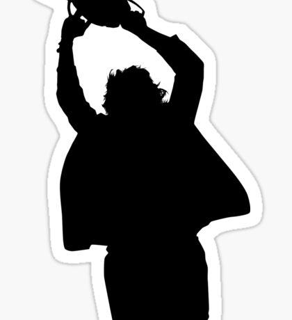 Chainsaw massacre silhouette Sticker