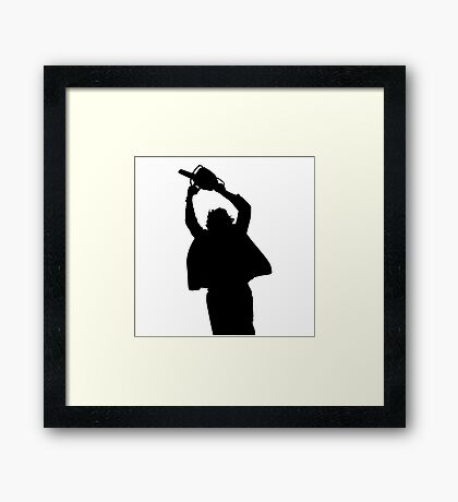 Chainsaw massacre silhouette Framed Print