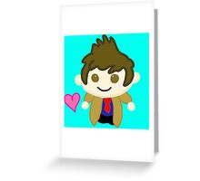 Chibi Tenth Doctor (David Tennant) Greeting Card