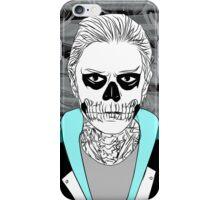 Tate Langdon Skull // Teal  iPhone Case/Skin