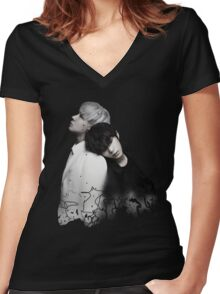 Leo / Ravi | Beautiful Liar Women's Fitted V-Neck T-Shirt