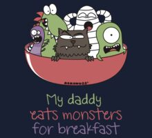 My daddy eats monsters for breakfast One Piece - Long Sleeve