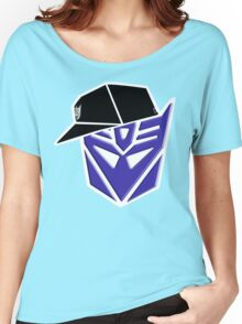 Decepticon G1 OG Transformer W/ Border Women's Relaxed Fit T-Shirt