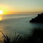Sunset Pura Batu Bolong by Hicksy