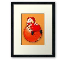 Slam Dunk Baby Framed Print