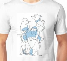 overlapping dogs Unisex T-Shirt