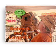 """""""Redneck and a Longneck""""... prints and products Metal Print"""