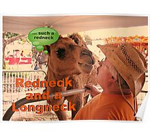 """""""Redneck and a Longneck""""... prints and products Poster"""