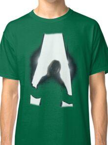Behind curtains girl Classic T-Shirt
