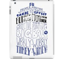 Doctor Who Timey Wimey Tardis Lettering iPad Case/Skin