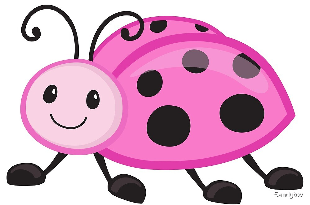 """Cute cartoon ladybug"" by Sandytov 