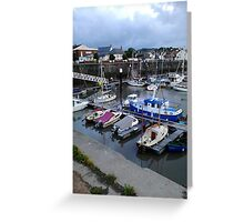 Watchet Harbour #1 Greeting Card
