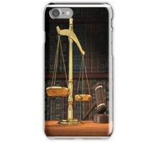 libra law iPhone Case/Skin