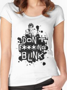 peter capaldi don't blink (clean) Women's Fitted Scoop T-Shirt