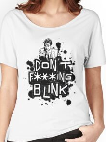 peter capaldi don't blink (clean) Women's Relaxed Fit T-Shirt