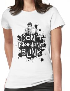 peter capaldi don't blink (clean) Womens Fitted T-Shirt