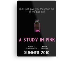 A Study In Pink poster Metal Print