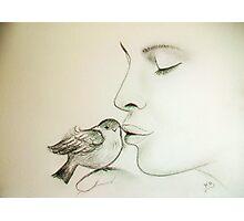 Bird-Kiss.... :) Photographic Print