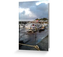 Watchet Harbour #4 Greeting Card