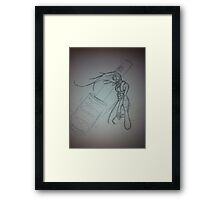 Sketch for another female character.  Framed Print