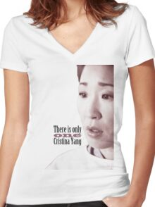 There is only one Cristina Yang. Women's Fitted V-Neck T-Shirt