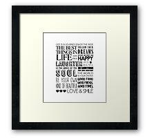 House Words Framed Print