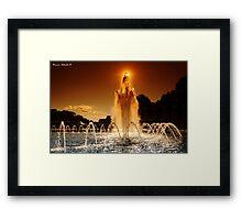 Fire & Water Framed Print