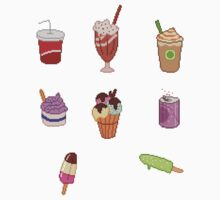 Pixel Junk Food Stickers 2 by siins