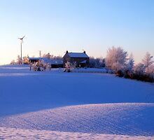 Winter Farm by Ludwig Wagner