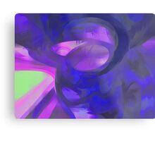 Blue Smoke Pastel Abstract Metal Print
