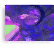 Blue Smoke Pastel Abstract Canvas Print
