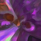 Purple Butterfly Pastel Abstract by Alexander Butler