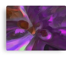 Purple Butterfly Pastel Abstract Canvas Print