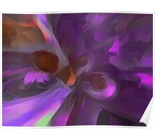 Purple Butterfly Pastel Abstract Poster