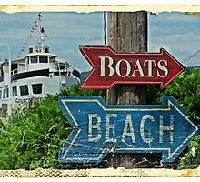 Boats and Beach No. 1 nautical art beach themed bathroom art by jemvistaprint