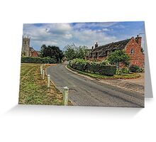 Woodbastwick village and church Greeting Card