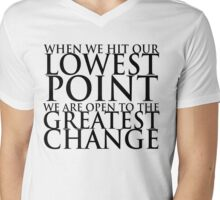 When we hit our lowest point... (For Light-Colored Shirts) Mens V-Neck T-Shirt