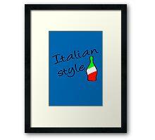 Italian Style Framed Print
