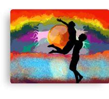 Sunset Relationship Canvas Print