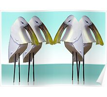 Spoonbill gathering Poster