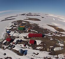 Mawson Station Aerial View by AndersHamilton