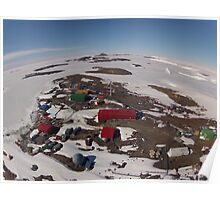 Mawson Station Aerial View Poster