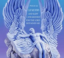 ✿♥‿♥✿.BLUE ANGEL..I LAID ME DOWN AND SLEPT..(BIBLICAL) PICTURE/CARD ✿♥‿♥✿. by ╰⊰✿ℒᵒᶹᵉ Bonita✿⊱╮ Lalonde✿⊱╮