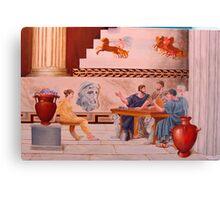 Classical Greek Scene Canvas Print